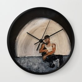 Giveon,album,take time,oil painting,small canvas,art,original,poster,fan art,cool,dope,wall decor,ab Wall Clock