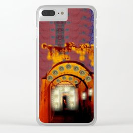 a secret medina of warm + vibrant artisan trades Clear iPhone Case