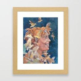 Women of Valor: Amelia Earhart Framed Art Print