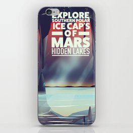 Explore the Southern ice caps of Mars Hidden Lakes. iPhone Skin