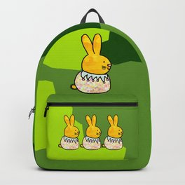 Rabbit on Spring Green - a large bunny for Easter Backpack