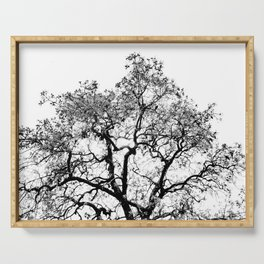 Tree - Black and White Serving Tray