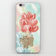 Flying hippos iPhone & iPod Skin