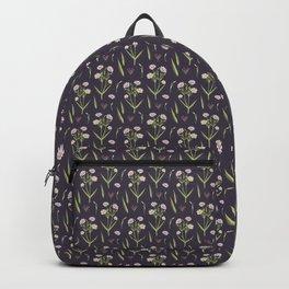 vintage floral navy Backpack