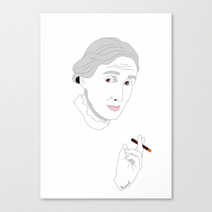Woolf Canvas Print