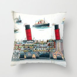 A British Liner Throw Pillow