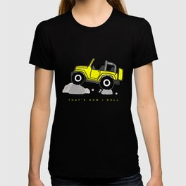 That's how I roll - Yellow Jeep T-shirt