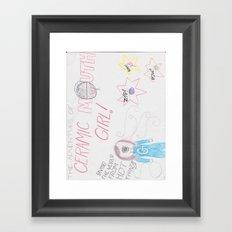 Ceramic Mouth Girl Framed Art Print