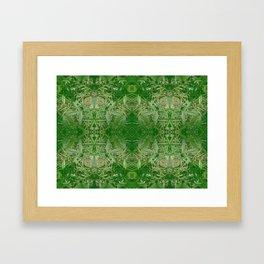 Leafy Dreams Mandala Framed Art Print