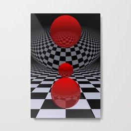 red-white-black -2- Metal Print