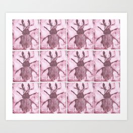 Tile Beetles Art Print