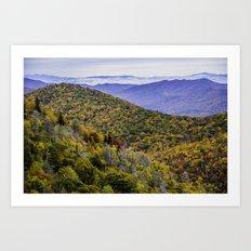 Mountain Fall Leaf Color Art Print
