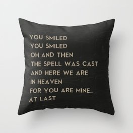 At Last Song Art Music Poster of Etta James Lyrics Throw Pillow