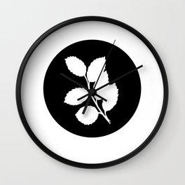 Ash Leaves Wall Clock