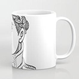 Emperor Wearing Laurel Leaf Mono Line Coffee Mug