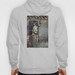 Adolphe Monticelli - A Painter at Work on a House  Wall Hoody
