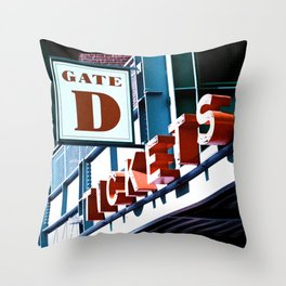 Fenway Gate D Tickets Throw Pillow