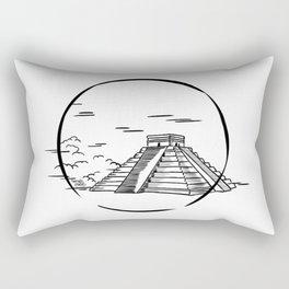Mayan Chichen Itza Rectangular Pillow