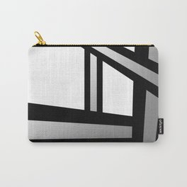 Bold Metallic Beams - Minimalistic, abstract black and white artwork Carry-All Pouch