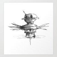 Spinning Art Print