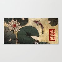 lotus Canvas Prints featuring Lotus by Corinne Reid