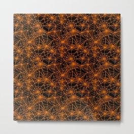 Spooky Spider Webs Metal Print