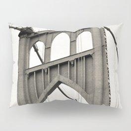 ST. JOHNS BRIDGE - PORTLAND OREGON - IN BLACK & WHITE Pillow Sham