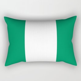 Nigerian Flag - Authentic High Quality HD Image Rectangular Pillow