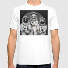 Capricorn 3 - Astronaut animal group White MEDIUM Mens Fitted Tee