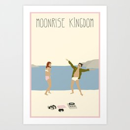 MOONRISE KINGDOM COVE Art Print