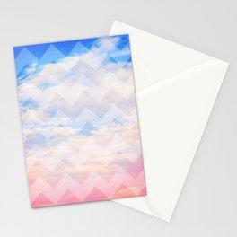 Sunset Sky / Chevron Stationery Cards
