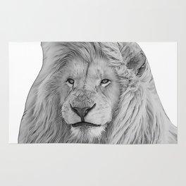 lion b&w Rug