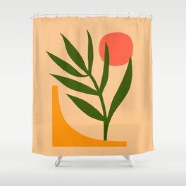 Minimalist Abstract Art  #1 Yellow Orange Green Shower Curtain