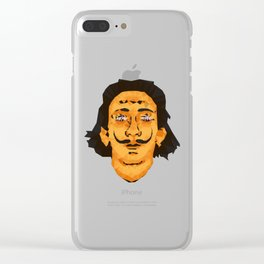 Dali Techy Art Clear iPhone Case