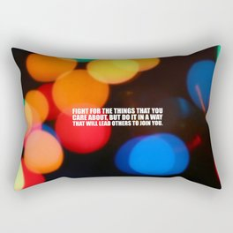 """Fight for the things... """"Ruther Bader Ginsburg"""" Life Inspirational Quote Rectangular Pillow"""