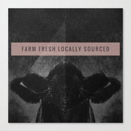 Farm Fresh locally sourced Canvas Print