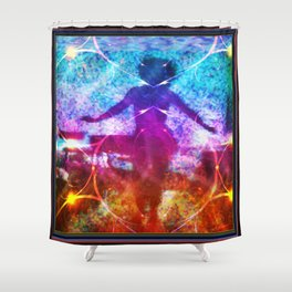 """""""Dancer In Shadows"""" by surrealpete Shower Curtain"""