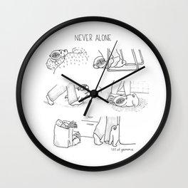 never alone Wall Clock