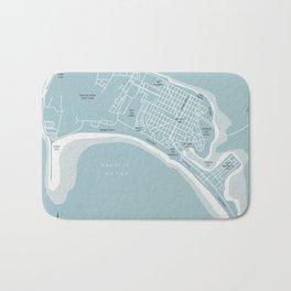 Blues Coronado California Map Bath Mat