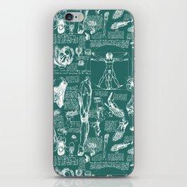 Da Vinci's Anatomy Sketchbook // Genoa Green iPhone Skin