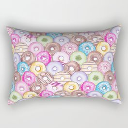 Donut Invasion Rectangular Pillow