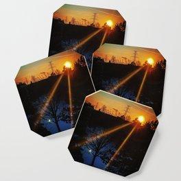 Winter Sunset Coaster