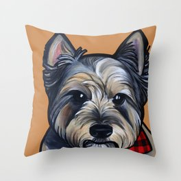 Rigoletto the cairn terrier Throw Pillow