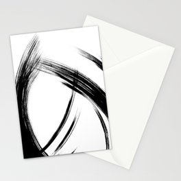 Black Abstract Brush Strokes nr 8 Stationery Cards