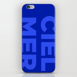 Ciel, Mer (Bleu) iPhone Skin