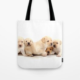 Puppies Labrador Retriever Tote Bag
