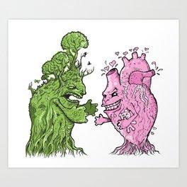 Nature vs Nurture Art Print