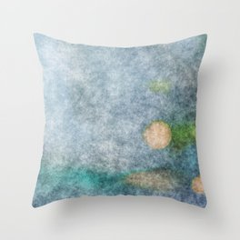 stained fantasy microorganisms Throw Pillow