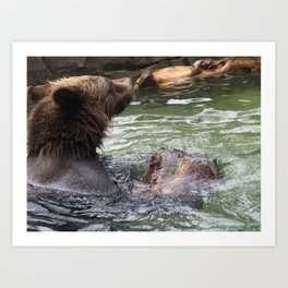 A Great Day to Play in the Water with a LOG Art Print