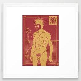 Masked & Untitled Framed Art Print